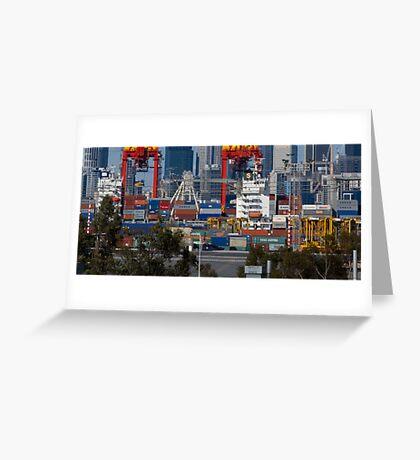 Port Of Melbourne Greeting Card