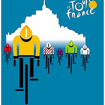 TOUR de FRANCE : Modern Abstract Advertising Print by posterbobs