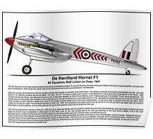 De Havilland Hornet F1 Profile Poster