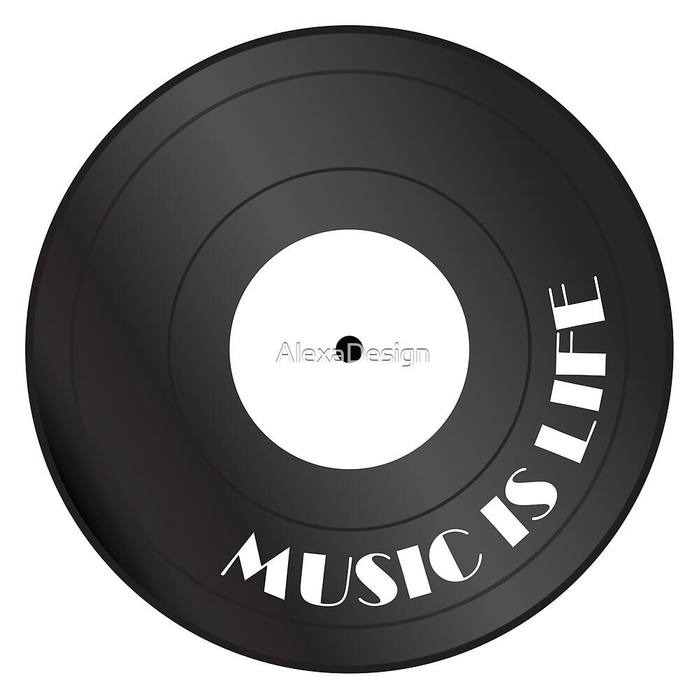 Music is life vinyl record by AlexaDesign