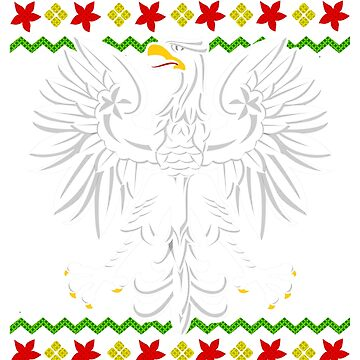 Polish Eagle Snowflake Ugly Christmas by frittata