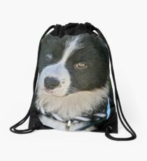 The baby Border Collie Drawstring Bag