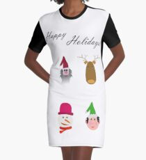 Happy Holidays!! Graphic T-Shirt Dress