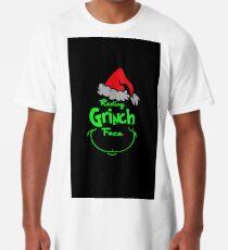 resting grinch face Long T-Shirt