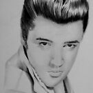 ELVIS ON NOTEBOOK by jansimpressions