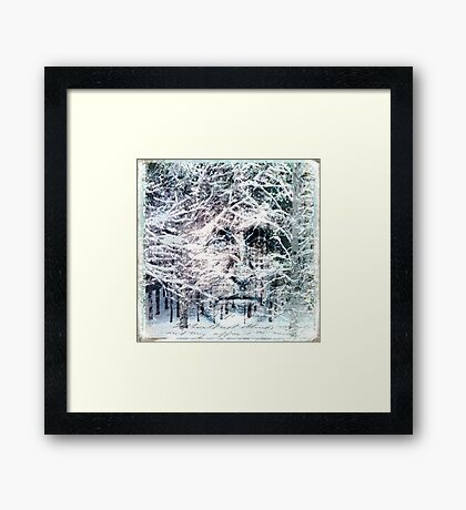I Went to the Woods Framed Print