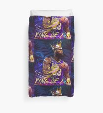 Lebron at the Lakers Duvet Cover