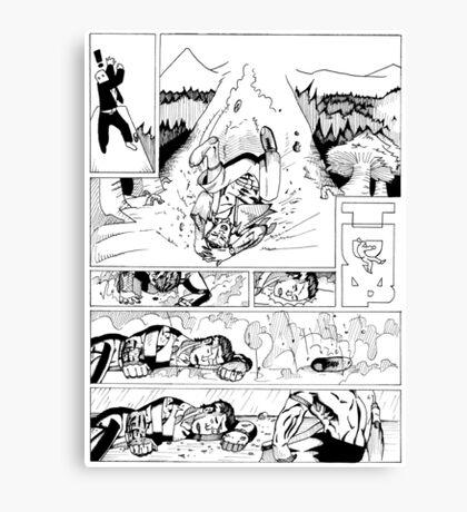 HSC Major Work Comic page 4 Canvas Print