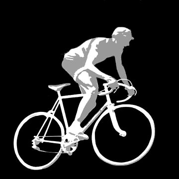 TOUR de FRANCE : Vintage Silhouette Abstract Print by posterbobs