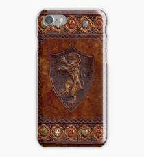 Hand-Tooled Leather Medieval Book Cover iPhone Case/Skin