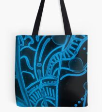 Glowing Bacterial Art - Abstract Tote Bag