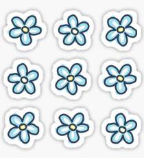 Pegatina Flores azules (9 paquetes múltiples)