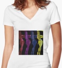 Babes on Blotters: Unlock Your Mind Women's Fitted V-Neck T-Shirt