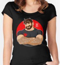 ADAM LIEBT CROSSING ARMS Tailliertes Rundhals-Shirt