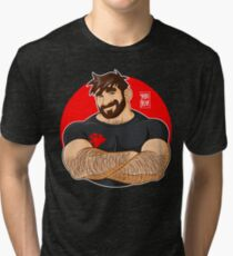 ADAM LIKES CROSSING ARMS Tri-blend T-Shirt