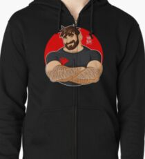 ADAM LIKES CROSSING ARMS Zipped Hoodie