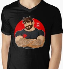 ADAM LIKES CROSSING ARMS V-Neck T-Shirt