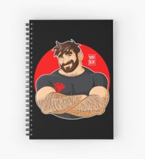 ADAM LIKES CROSSING ARMS Spiral Notebook