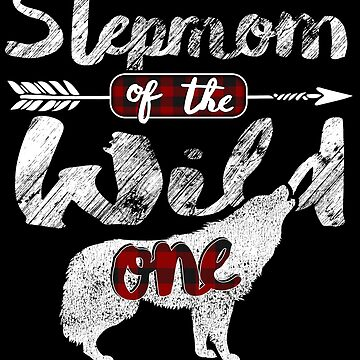 Stepmom of the Wild One Wolf Shirt 1st Birthday Wolves Buffalo Plaid wolves lover animal spirit survive in mountains wilderness plaid pajamas by bulletfast