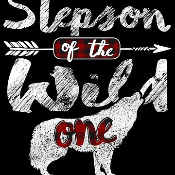 Stepson of the Wild One Wolf Shirt 1st Birthday Wolves Buffalo Plaid plaid pajamas easily distracted by wolves animal spirit zookeeper by bulletfast
