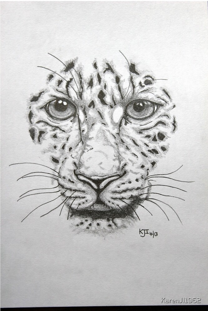 Leopard face by KarenJI1962