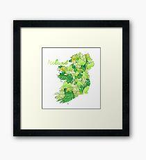 Aquarell Länder - Irland Gerahmtes Wandbild