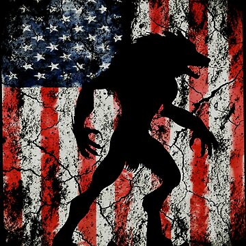 werewolf american usa flag by furioso