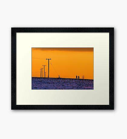 Power Walking Framed Print