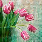 Verdigris Tulips by Leslie Nicole