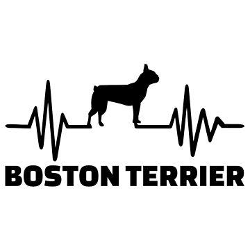 Boston terrier heartbeat  by Designzz