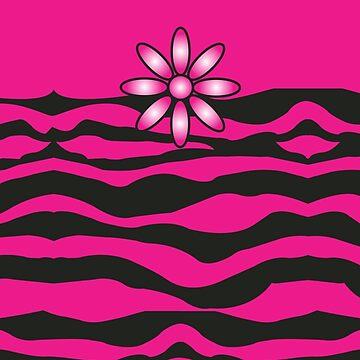 The Katy Phone / Black & Fuchsia Fantasy Zebra by srwdesign