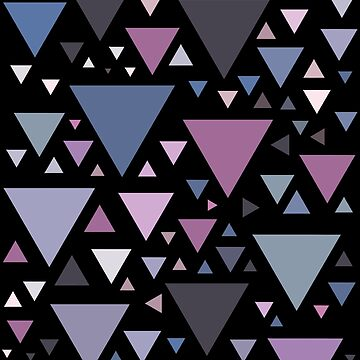 Triangular Geometric Pattern Colorful Triangles by skr0201
