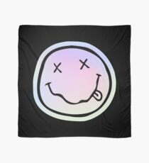 Holographic Grunge Smiley Face Scarf