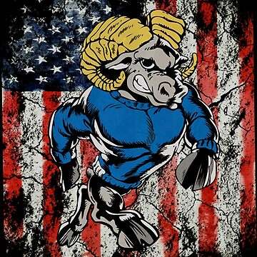 Rams Sports Mascot American USA Flag by furioso