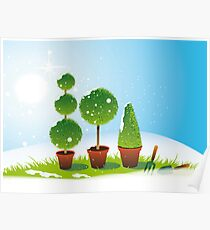 Winter Topiary Poster