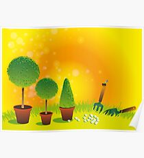 Summer Topiary Poster