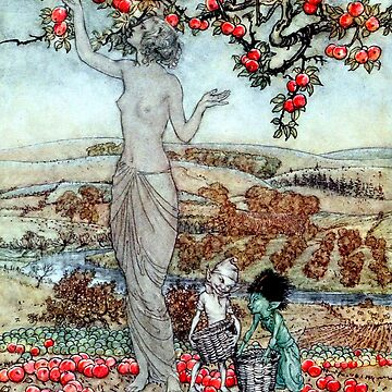 Song to Pomona - A Dish of Apples - Arthur Rackham by forgottenbeauty