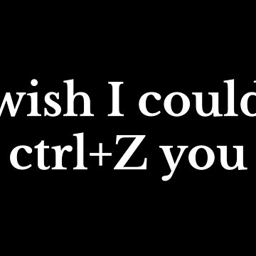 Wish I Could CTRL+Z (Delete) You by fandemonium