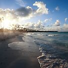 Caribbean sunset by Tom Prokop