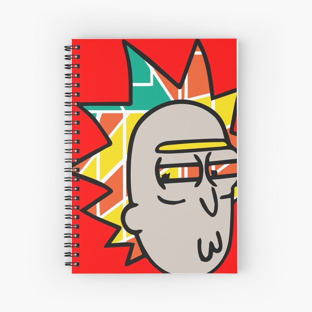 Rick Lips and Colorful Hair Spiral Notebook