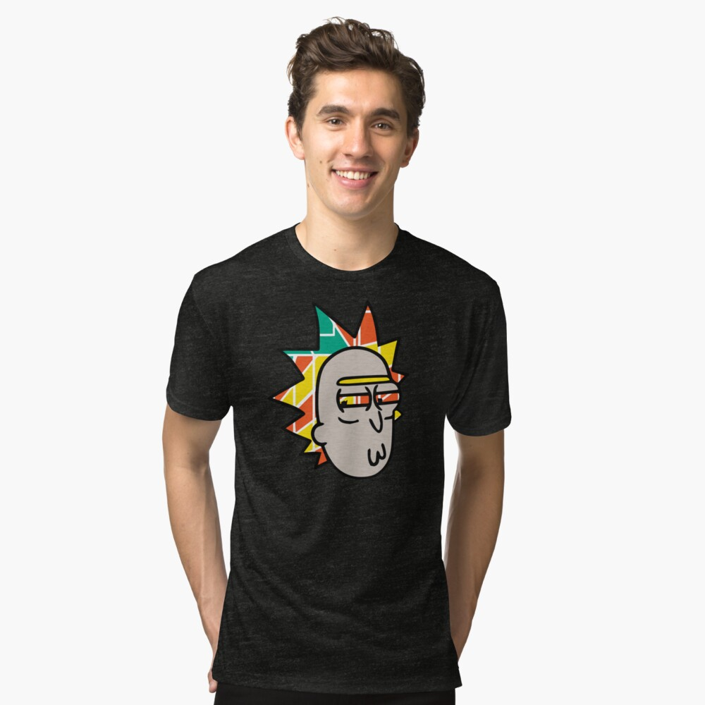 Rick Lips and Colorful Hair Tri-blend T-Shirt