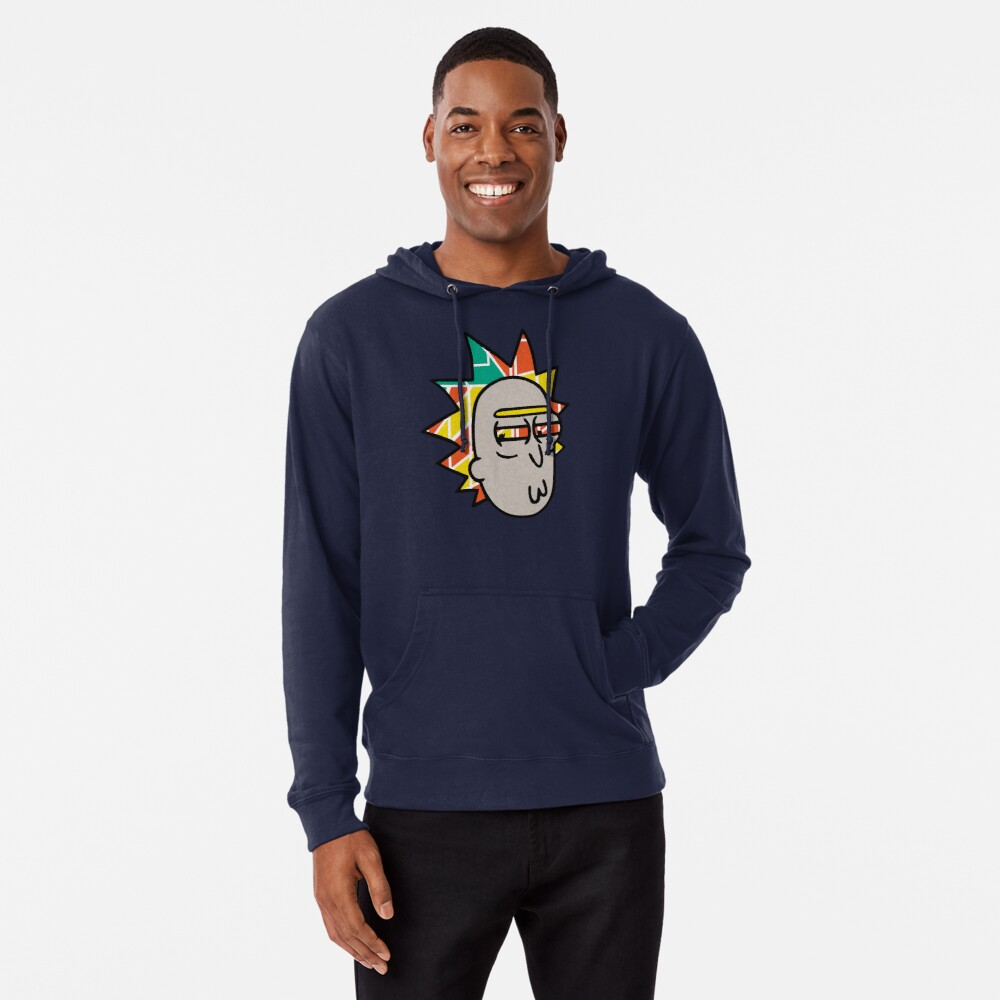 Rick Lips and Colorful Hair Lightweight Hoodie