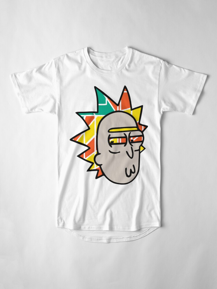 Alternate view of Rick Lips and Colorful Hair Long T-Shirt