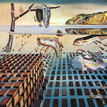 Salvador, Dali, surrealist. The Disintegration of the Persistence of Memory (1952-1954) by TOMSREDBUBBLE