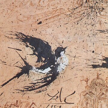 Salvador Dalí, Swallow (1957) by TOMSREDBUBBLE