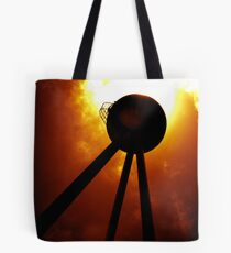 Tripods - The Fire Mountains Tote Bag