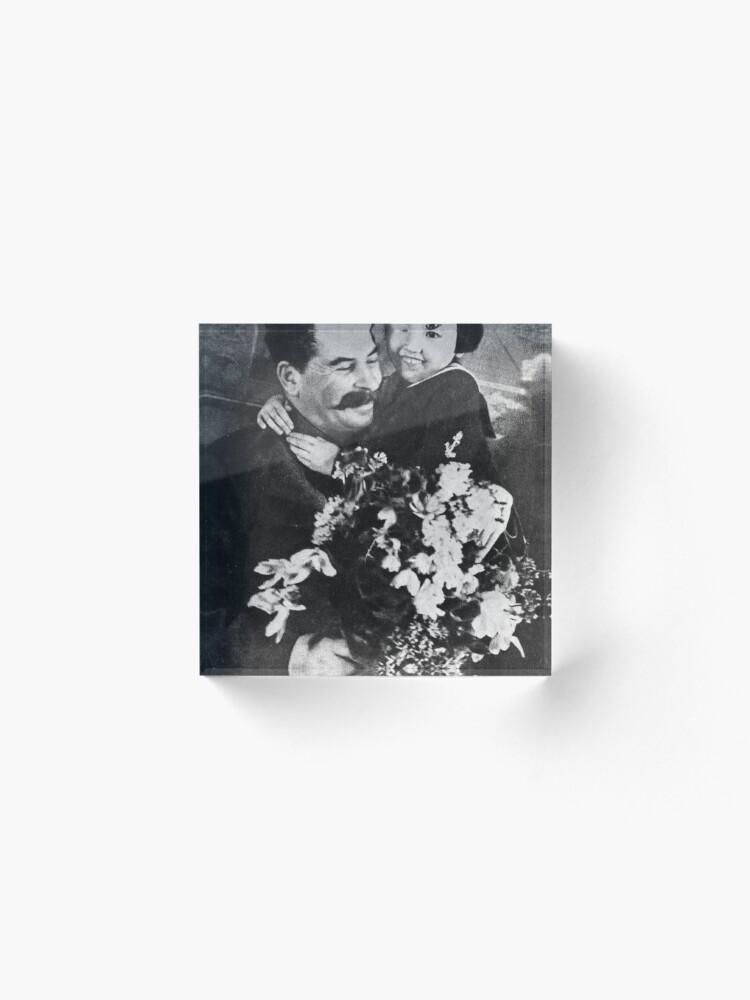 Alternate view of Stalins cult of personality #Сталин #ИосифВиссарионович #Ежов #Берия #Жданов #Молотов #Ленин #ГУЛАГ #Нориллаг #Культличности #репрессии #депортация #тюрьма #казнь #политзаключенный #Stalin Acrylic Block