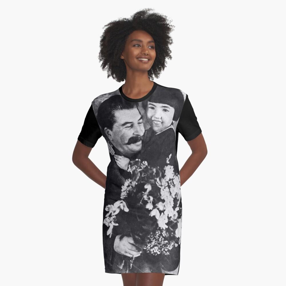 Stalins cult of personality #Сталин #ИосифВиссарионович #Ежов #Берия #Жданов #Молотов #Ленин #ГУЛАГ #Нориллаг #Культличности #репрессии #депортация #тюрьма #казнь #политзаключенный #Stalin Graphic T-Shirt Dress