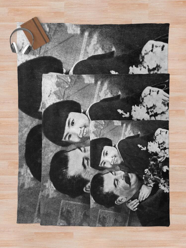 Alternate view of Stalins cult of personality #Сталин #ИосифВиссарионович #Ежов #Берия #Жданов #Молотов #Ленин #ГУЛАГ #Нориллаг #Культличности #репрессии #депортация #тюрьма #казнь #политзаключенный #Stalin Throw Blanket
