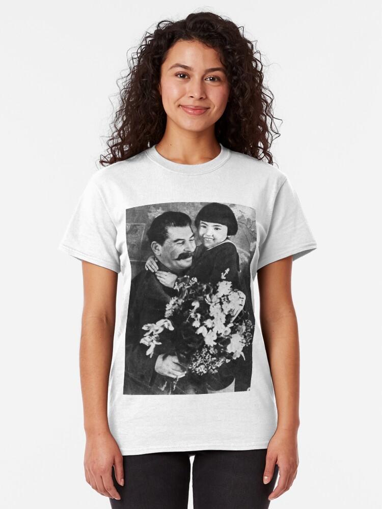 Alternate view of Stalins cult of personality #Сталин #ИосифВиссарионович #Ежов #Берия #Жданов #Молотов #Ленин #ГУЛАГ #Нориллаг #Культличности #репрессии #депортация #тюрьма #казнь #политзаключенный #Stalin Classic T-Shirt